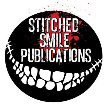 stitched smile button